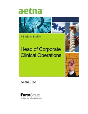 Head of Corporate Clinical Operations, Aetna