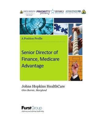 Senior Director of Finance, Medicare Advantage, Johns Hopkins HealthCare